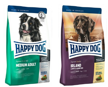 Happy Dog food free sample pack