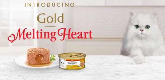 Free Gourmet Melting Heart with Chicken cat food sample