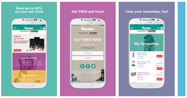 Free Five Pounds with Monster Pet Supplies App