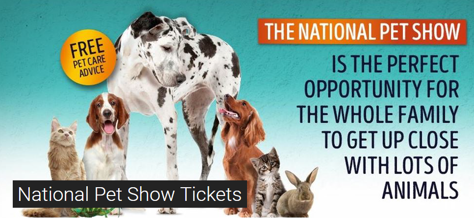National Pet Show Discount Code 2016